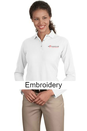 8d2b15fce Port Authority® Ladies Long Sleeve Silk Touch™ Polo. L500LS – MathApparel